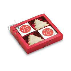 Caja de 4 jabones personalizados para Navidad